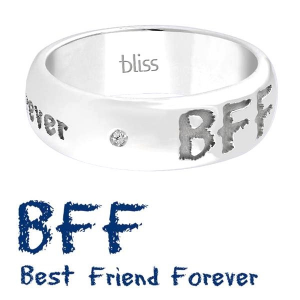 Bliss Anello Argento Emotions - BFF best friend forever