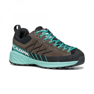MESCALITO LACE KID   -   Scarpa hiking per bambini  -  Titanium-Green Blue