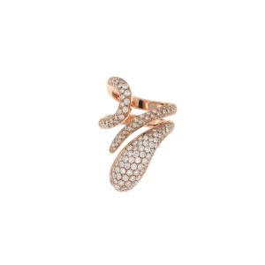 Bracciale Elika tubogas con chiusura in oro rosa e diamanti
