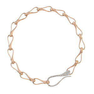 Bracciale Elika in oro rosa, bianco e diamanti