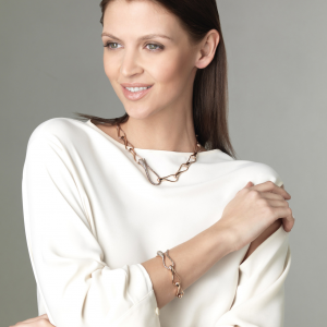 Catena Elika in oro bianco e diamanti