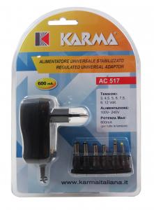Karma Italiana AC 517 adattatore e invertitore Interno Nero