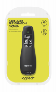 Logitech R400 puntatore wireless RF Nero