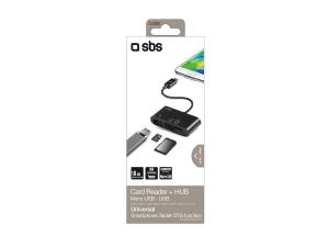 SBS TTCABLEREADER lettore di schede Nero Micro-USB