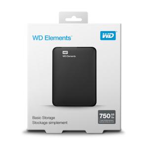 Western Digital WD Elements Portable disco rigido esterno 750 GB Nero