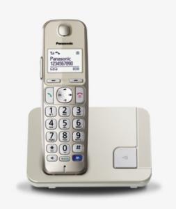 Panasonic KX-TGE210JTN telefono Telefono DECT Champagne Identificatore di chiamata