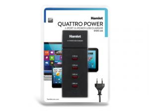 Hamlet Quattro Power alimentatore usb a 4 porte