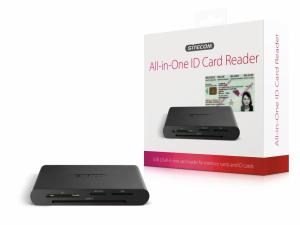 Sitecom USB 2.0 All-in-One ID Card Reader lettore di schede Nero
