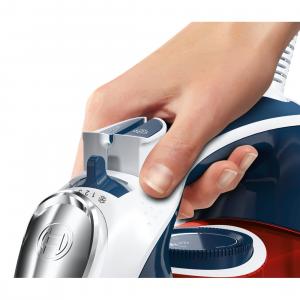 Bosch TDA5029010 ferro da stiro Ferro a vapore CeramicGlide Blu, Rosso, Bianco 2900 W