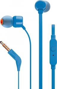 JBL T110 Cuffia Auricolare Blu