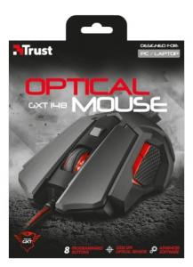 Trust GXT 148 mouse USB tipo A Ottico 3200 DPI Ambidestro
