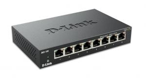 D-Link DGS-108 switch di rete Non gestito Nero