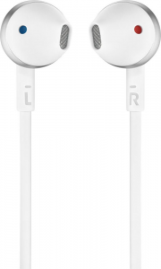 JBL T205 Cuffia Auricolare Cromo, Bianco