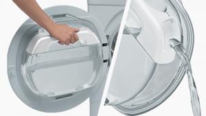 Hoover DXW4 H7A1TCEX-01 Libera installazione Caricamento frontale Cromo, Bianco 7 kg A+