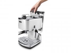 DeLonghi Scultura ECZ 351.W Libera installazione Manuale Macchina per espresso 1.4L Cromo, Grigio