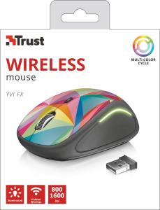 Trust Yvi FX mouse RF Wireless Ottico 1600 DPI Ambidestro