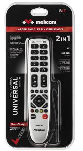 Meliconi Senior 2.1 telecomando IR Wireless TV, Sintonizzatore TV Pulsanti