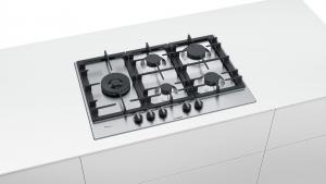 Bosch Serie 6 PCS7A5B90 piano cottura Acciaio inossidabile Da incasso Gas 5 Fornello(i)