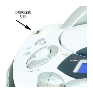 New Majestic AH-2387R MP3 USB Lettore CD personale Nero, Bianco