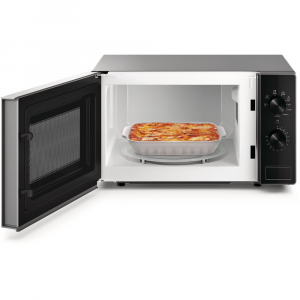 Whirlpool MWP 103 SB forno a microonde Superficie piana Microonde con grill 20 L 700 W Nero, Argento
