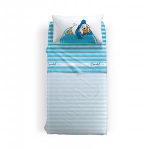 Lenzuola Caleffi - completo lenzuolo singolo Disney PAPERINO