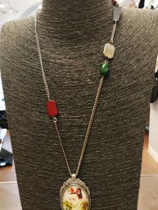 Collana particolare medaglione grande  Frida Kahlo 08