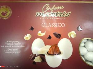 Scatola confetti mandorla e cioccolato