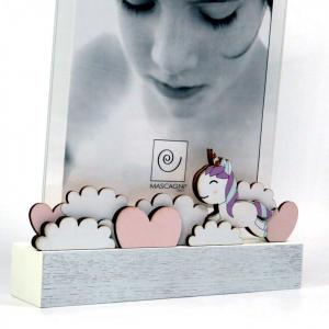 Cornice unicorno rosa foto 13x18 di Mascagni