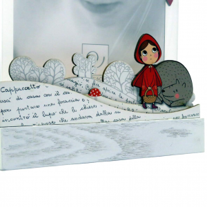 Cornice 13x18 cappuccetto rosso e il lupo di Mascagni