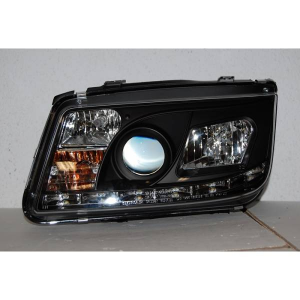 Fanali Day Light Volkswagen Bora/Jetta 4 '99 Black