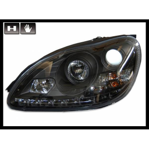 Fanali Day Light  Mercedes W220 '98'05, Black