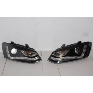 Fanali Day Light Volkswagen Polo 09 Black