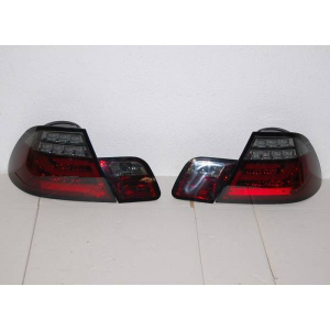 Fanali Posteriori BMW E46 2P 2003-2005 Led Red Smoked Led Lampeggiante Cardna