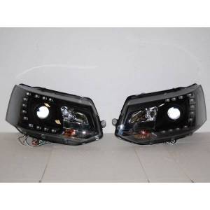 Fanali Real Day Light Volkswagen T5 Nero DRL