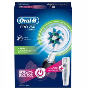 Oral-B PRO 750 CrossAction Adulto Spazzolino rotante-oscillante Nero