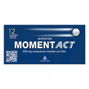 MOMENTACT COMPRESSE RIVESTITE : FARMACO A BASE DI IBUPROFENE 400 MG