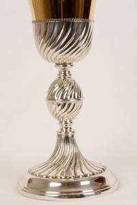 Calice metallo argentato MDA080A