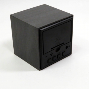 Orologio sveglia cubo di legno a batterie Mascagni
