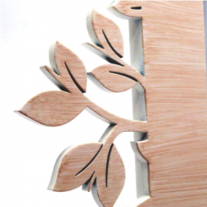 Cornice in legno con foglie 13x18 Mascagni