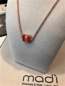 Completo Madì collana orecchini e bracciale- argento 925% rosè