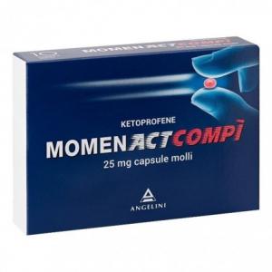 MOMENACTCOMPI' CAPSULE MOLLI: FARMACO A BASE DI KETOPROFENE 25 MG