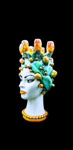 Head of Woman with Prickly Pear Candle Holder