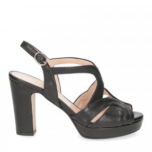Il Laccio sandalo 3046 pelle nero-2