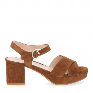 Il Laccio sandalo 6213 camoscio marrone-2