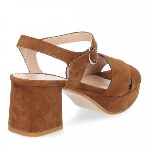 Il Laccio sandalo 6213 camoscio marrone-5
