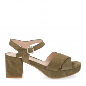 Il Laccio sandalo 6213 camoscio verde-2