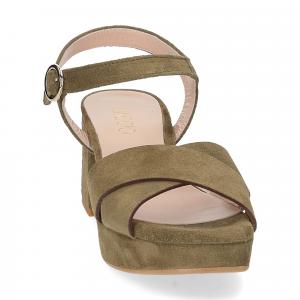 Il Laccio sandalo 6213 camoscio verde-3