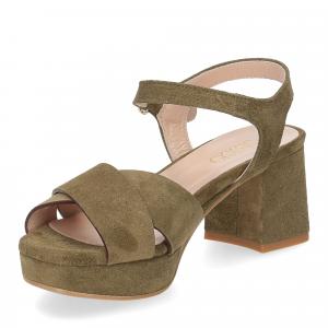 Il Laccio sandalo 6213 camoscio verde-4