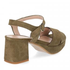 Il Laccio sandalo 6213 camoscio verde-5