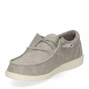 Hey Dude Wally recycled leather grey-4